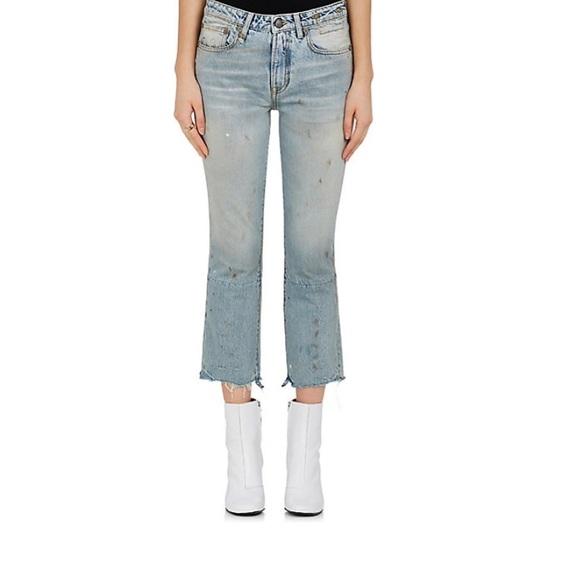 11ac34baa62 R13 Jeans   New Kick Fit Cropped Distressed 29   Poshmark